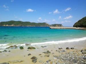 頭ヶ島,白浜海岸